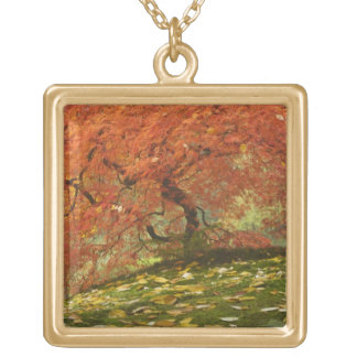 Japanese maple in fall color 3 necklace