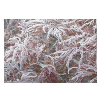 Japanese Maple in frost Placemat