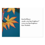 Japanese Maple Leaf Business Card