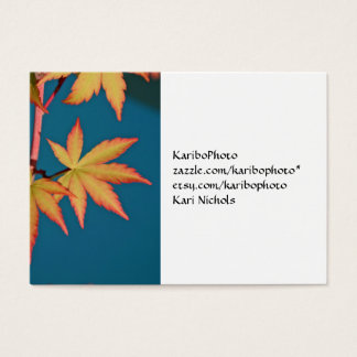 Japanese Maple Leaf Business Card