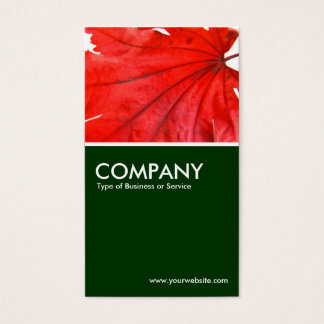 Japanese Maple Leaf - Dark Green Business Card