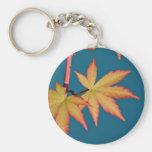 Japanese Maple Leaf Key Tag Fob Chain Keychains