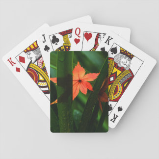 Japanese Maple Leaf Playing Cards