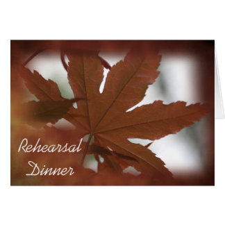 Japanese Maple Leaf Rehearsal Dinner Invitation