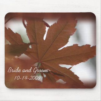 Japanese Maple Leaf Wedding Mouse Pad