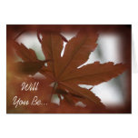 Japanese Maple Leaf Will You Be My Groomsman Card Greeting Card