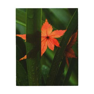 Japanese Maple Leaf Wood Wall Art