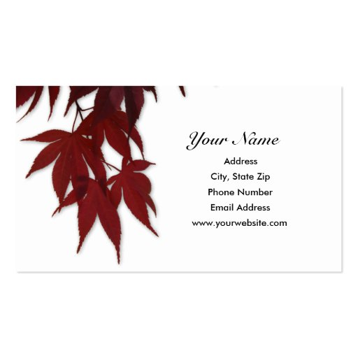 Japanese Maple Leave Business Card