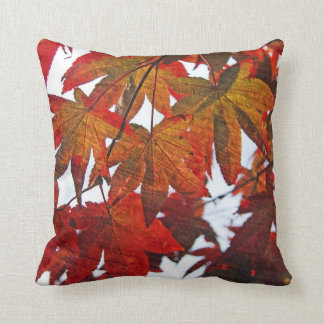 Japanese Maple Leaves in Autumn Pillow