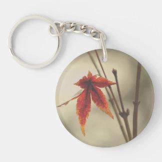 Japanese Maple Leaves Vintage Style Keychain