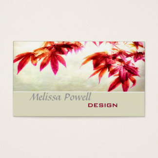 Japanese maple nature art custom double sided business card