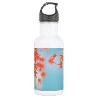 Japanese maple stainless steel water bottle