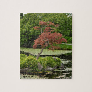 Japanese garden jigsaw puzzles zazzle for Garden pool on a pedestal crossword clue