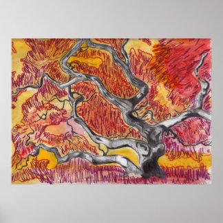 Japanese Maple Tree Drawing Print
