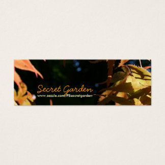 Japanese Maples 3 Floral Photography Mini Business Card