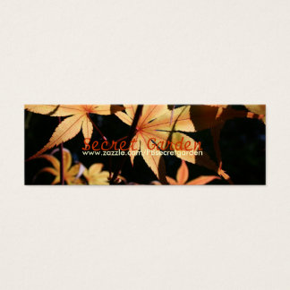 Japanese Maples 4 Floral Photography Mini Business Card