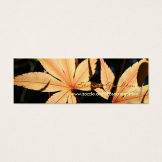 Japanese Maples 6 Floral Photography Mini Business Card