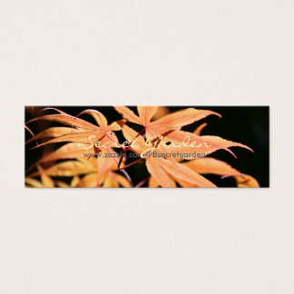 Japanese Maples 8 Floral Photography Mini Business Card