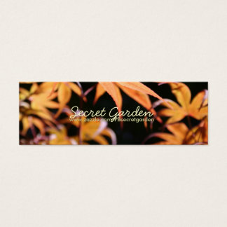 Japanese Maples 9 Floral Photography Mini Business Card