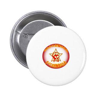 Japanese Marxist Freedom Logo Pin Badge
