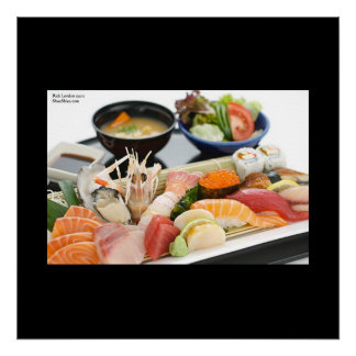 Japanese Meal Inluding Sushi Fine Art Posters