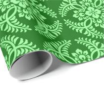 Japanese Medallion Pattern, Dark Jade Green Wrapping Paper