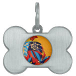 japanese men in traditional clothes pet ID tag