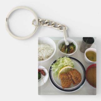 Japanese Miso Soup Food Bowls Photo Keychain