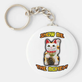 JAPANESE Money CAT Maneki Neko Keychain