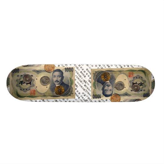 Japanese Money design Skateboard