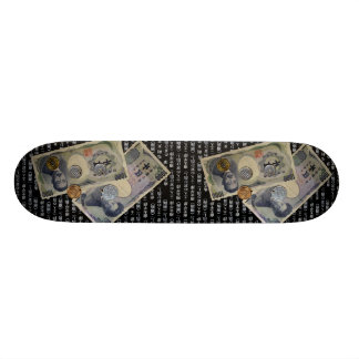 Japanese Money design Skateboard