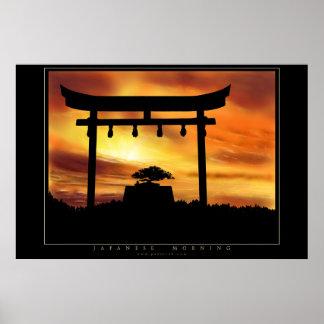 Japanese Morning Poster