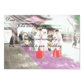Japanese motif weeding invitation
