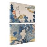 Japanese Mountain Village Canvas Prints