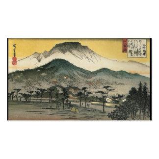 Japanese Mountains circa 1800's Business Card