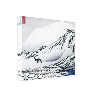 Japanese Mountains Covered in Snow Print