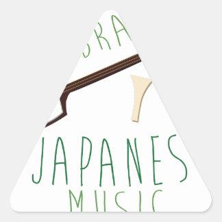 Japanese Music Triangle Sticker