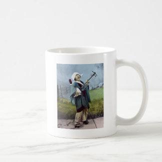 Japanese Musician Shamisen Vintage Banjo Music Classic White Coffee Mug