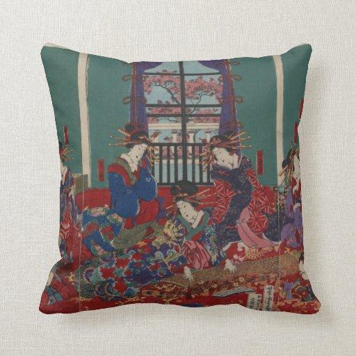 Japanese Musicians Pillow