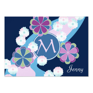 Japanese Nagarekiku Chrysanthemum River Floral Card