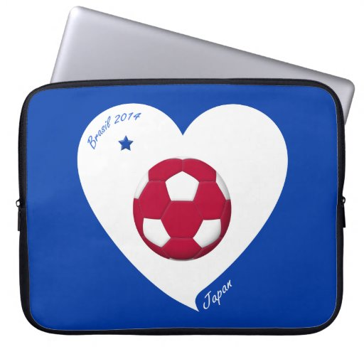 Japanese National Soccer Japan Team 2014 Nippon Laptop Sleeves