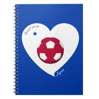 Japanese National Soccer Team Japan 2014 Nippon Libros De Apuntes Con Espiral