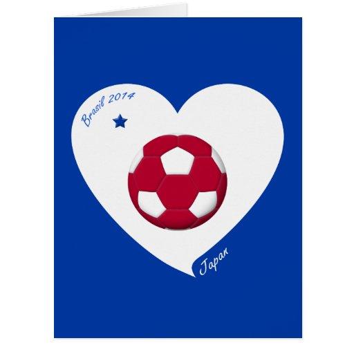 Japanese National Soccer Team Japan 2014 Nippon Tarjeta De Felicitación Grande