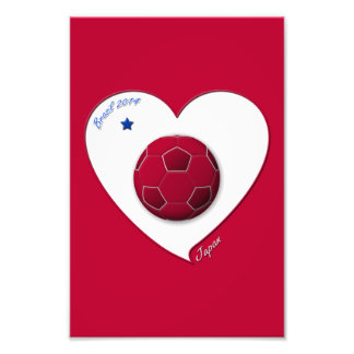 Japanese National Soccer Team, Japan 2014 Art Photo