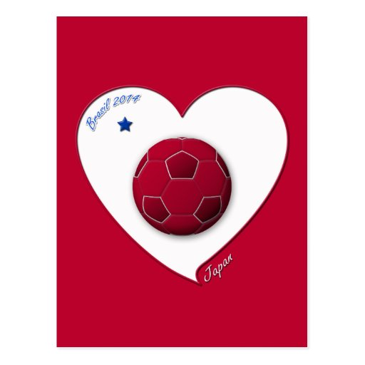Japanese National Soccer Team, Japan 2014 Tarjeta Postal