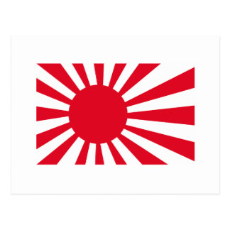 Japanese Navy Flag T-shirts and Apparel Postcard