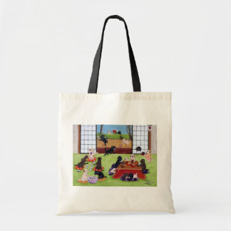 Japanese New Year's Day Labradors Budget Tote Bag