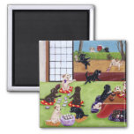 Japanese New Year's Day Labradors Refrigerator Magnet