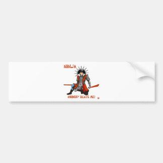 Japanese NINJA ninja Bumper Sticker