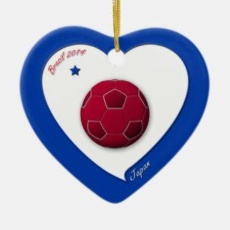Japanese Nippon National Soccer Team Japan 2014 Ceramic Ornament